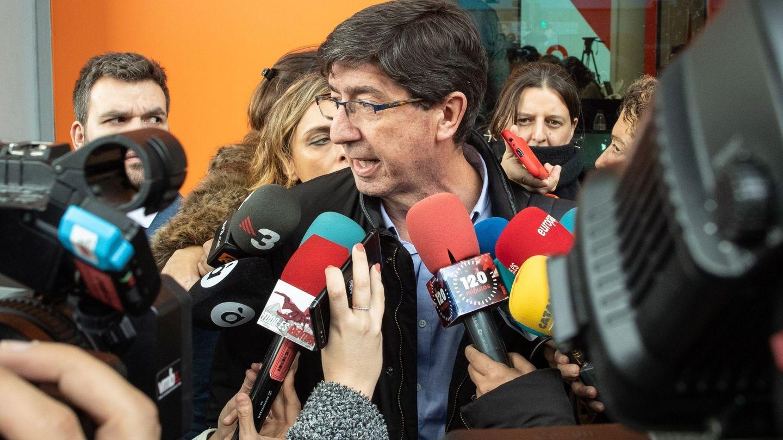 El líder de Ciudadanos en Andalucía, Juan Marín. (EFE)