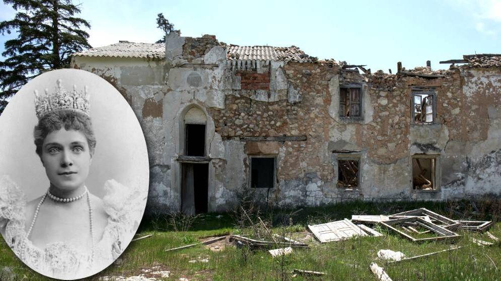 Foto: La infanta Eulalia y su casa en ruinas. (Montaje EC)