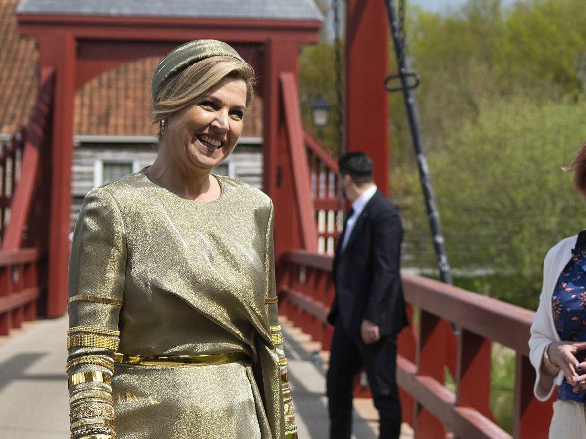 Foto: La reina Máxima, este lunes en Groningen. (EFE)