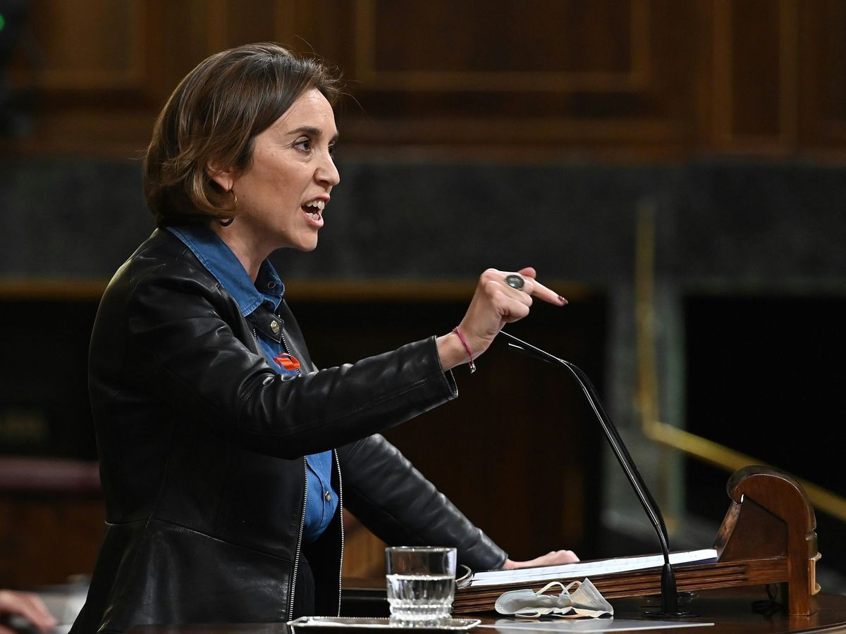 Foto: La portavoz parlamentaria del PP, Cuca Gamarra, en el Congreso. (EFE)