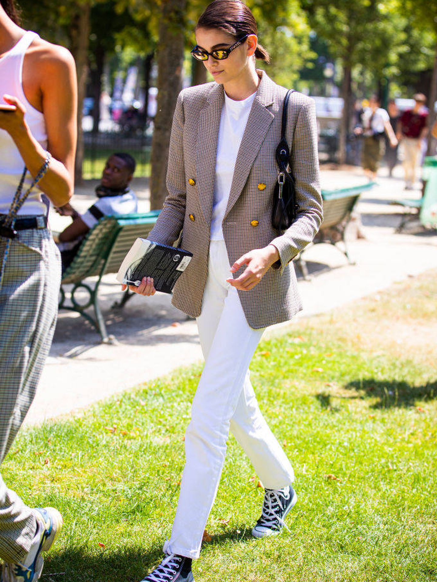 Street style de la Paris Fashion Week. (Getty)