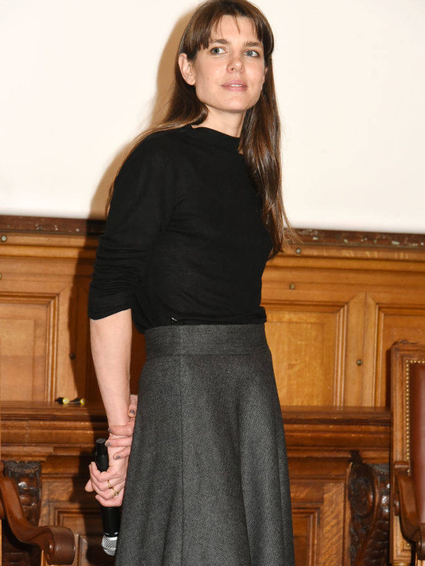 El look de Carlota Casiraghi. (Getty)