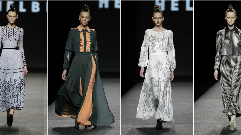 Algunos de los diseños de la colección otoño-invierno 2018 de Teresa Helbig. (Gtres)
