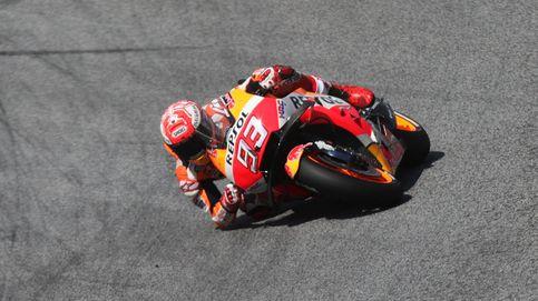 Márquez logra la pole por delante Dovizioso y Lorenzo en territorio Ducati