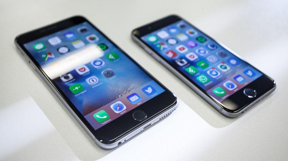 Foto: El iPhone 6s Plus (izquierda) y el 6s. (Foto: Enrique Villarino)