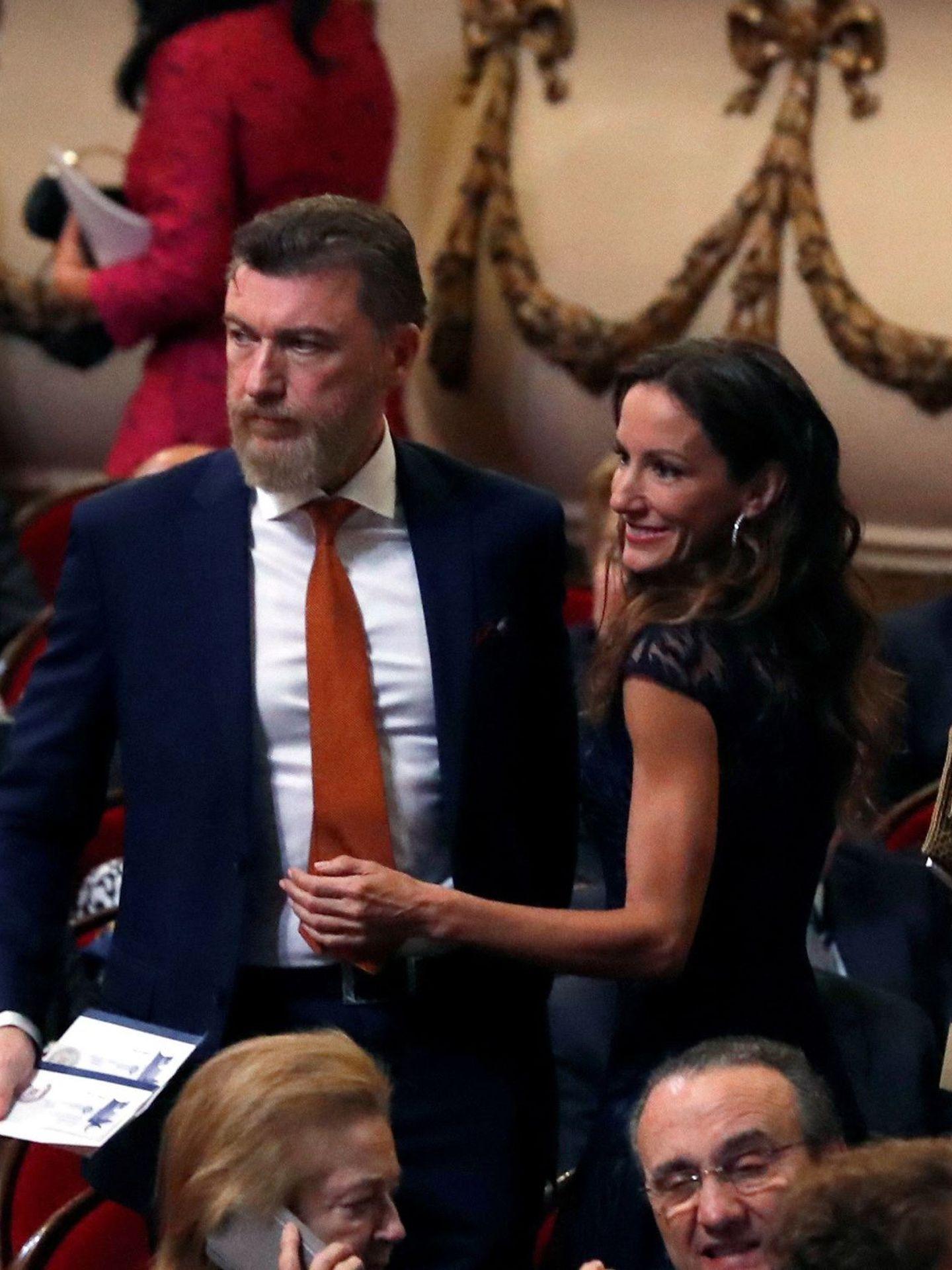Telma Ortiz y Robert Gavin en los Premios Princesa de Asturias 2019. (EFE)