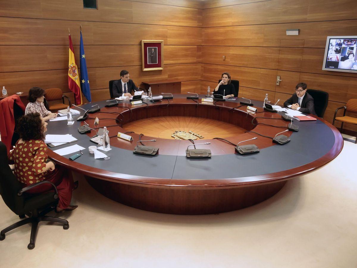 Foto: Consejo de Ministros en el Palacio de la Moncloa. (EFE)