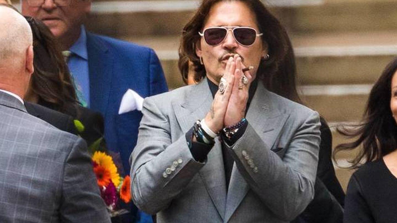 Johnny Depp, el último día del juicio. (EFE)
