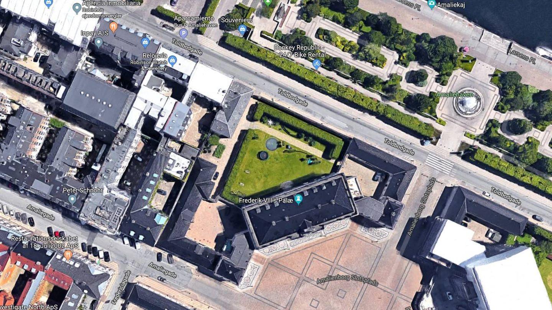 Vista aérea de la casa de Mary y Federico. (Google)
