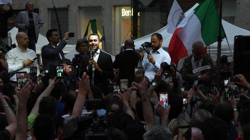 Foto: El líder del Movimiento Cinco Estrellas durante un mitin. (EFE)