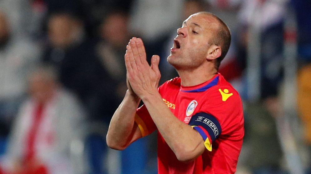 Foto: Ilde Lima, durante el partido de Andorra contra Georgia en noviembre de 2018. (REUTERS)