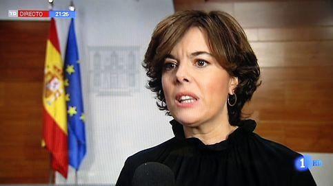 Soraya Sáenz de Santamaría desaparece en directo de todas las televisiones