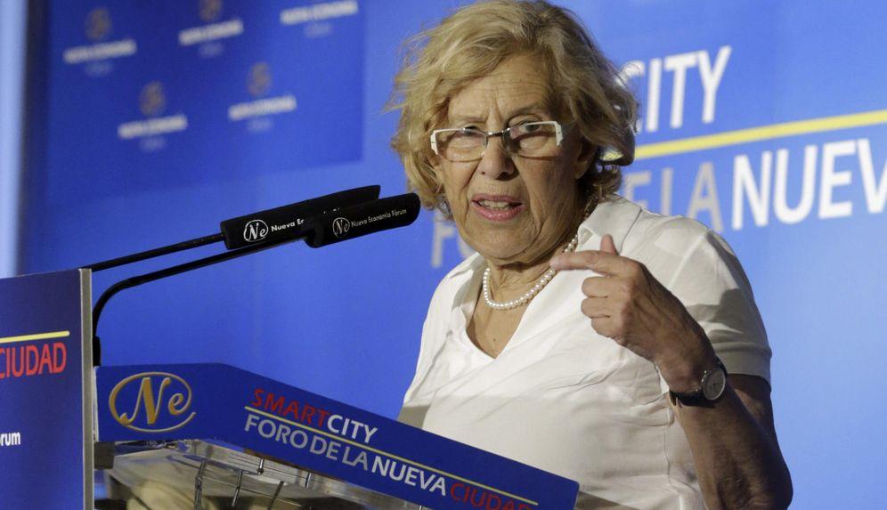 Foto: La alcaldesa de Madrid, Manuela Carmena, ha protagonizado hoy un desayuno informativo en el marco de la tribuna Smartcity (Efe)