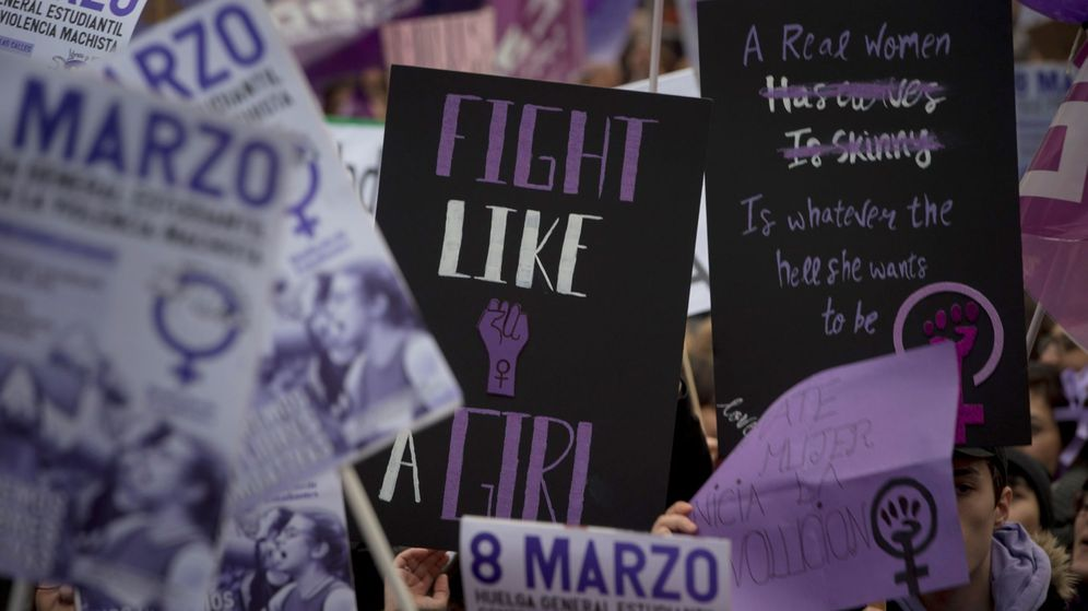 Foto: Manifestación del Día de la Mujer en Madrid. (EFE)