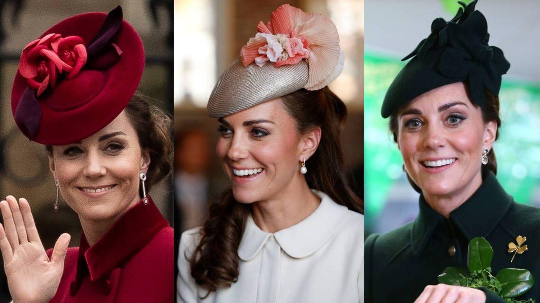 Algunos de los looks de Kate Middleton en los que se aprecia su maquillaje de ojos más marcado. (Getty)