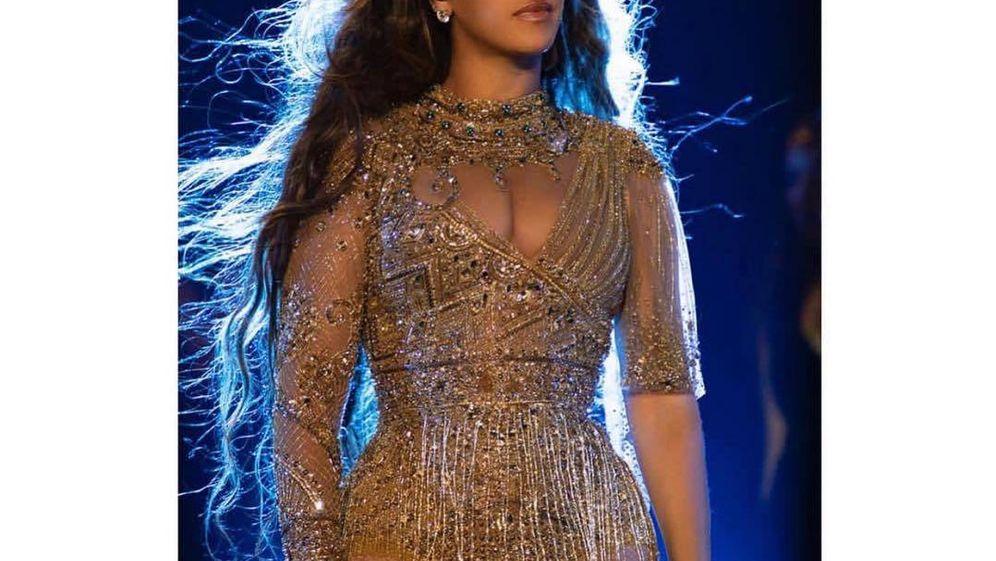 Foto:  Beyoncé, en la actuación. (Instagram)