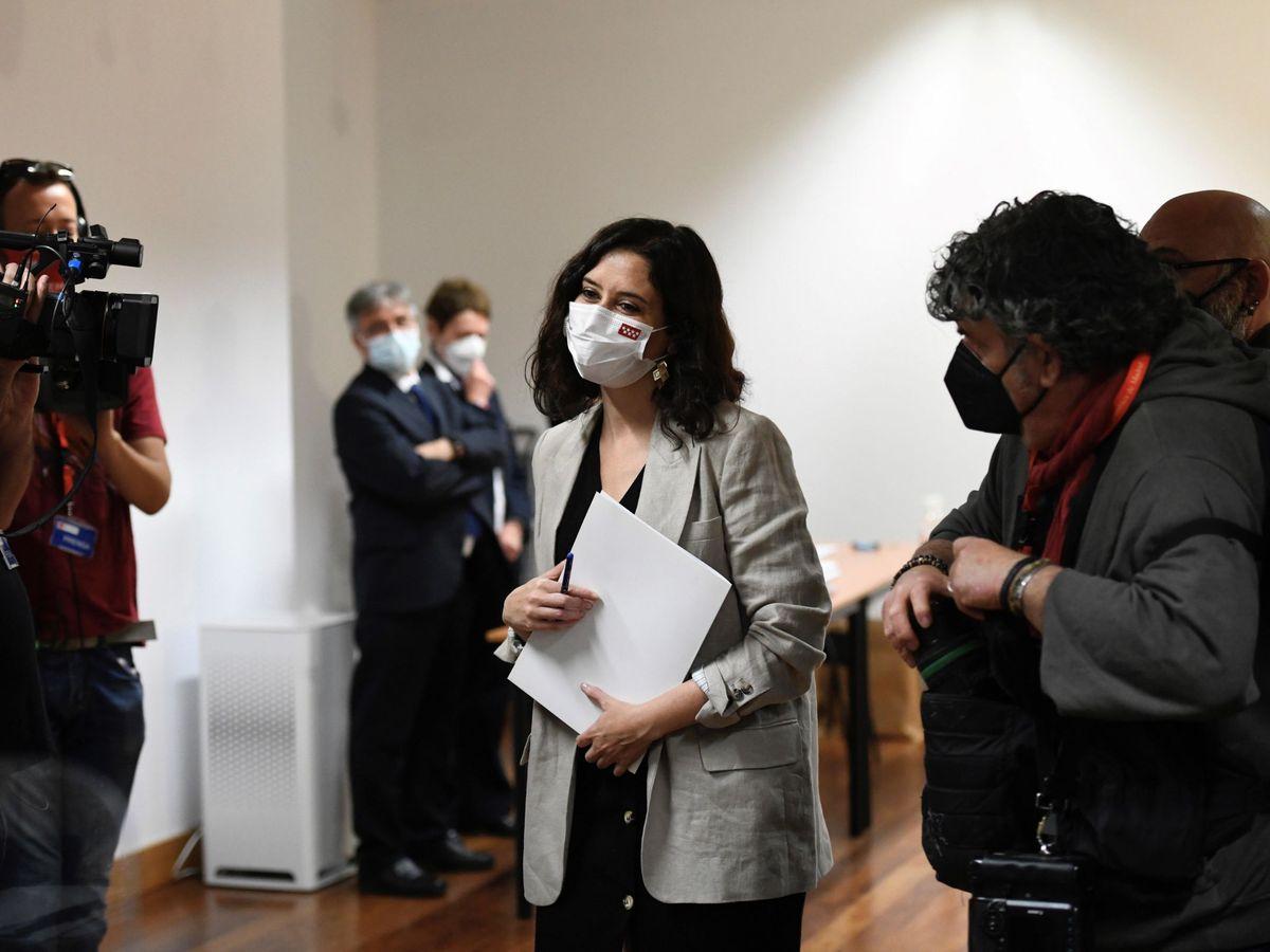 Foto: La presidenta en funciones de la Comunidad de Madrid, Isabel Díaz Ayuso. (EFE)