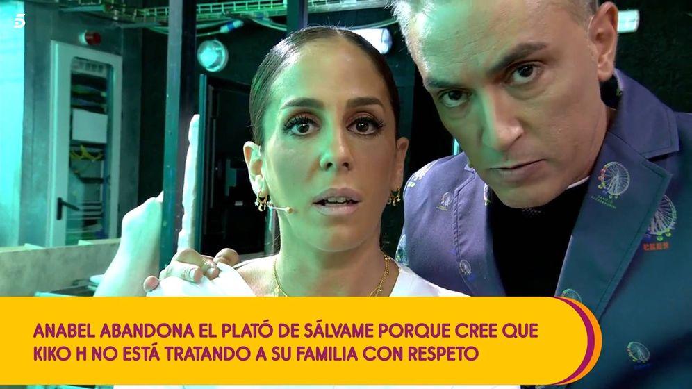 Foto: Anabel Pantoja y Kiko Hernández, en 'Sálvame diario'. (Telecinco)