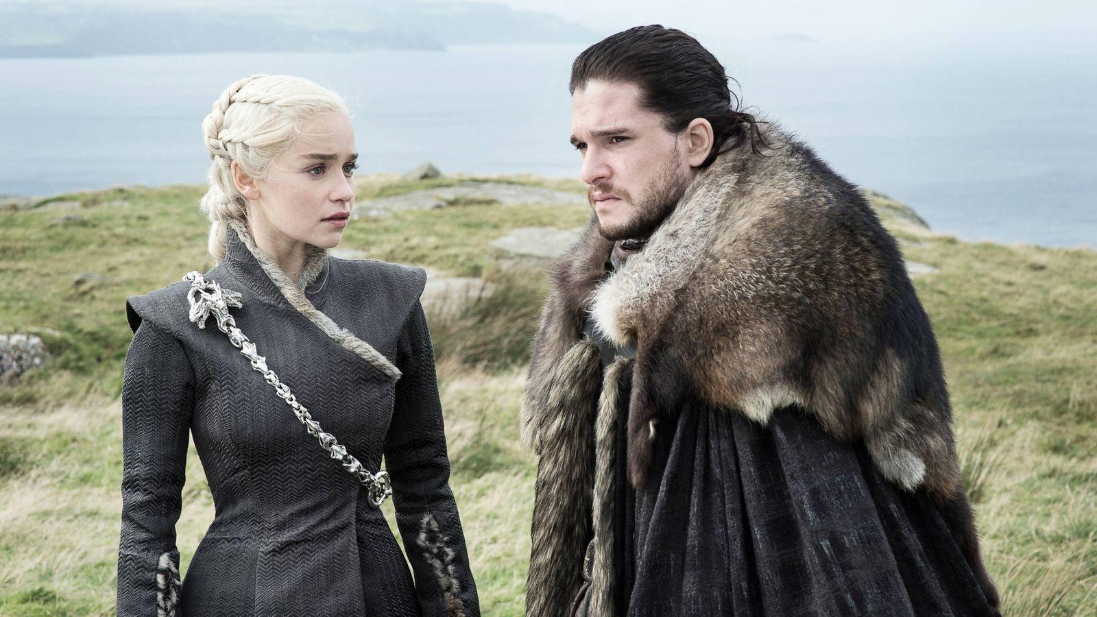Foto: Daenerys y Jon Snow en una imagen de 'Juego de Tronos'