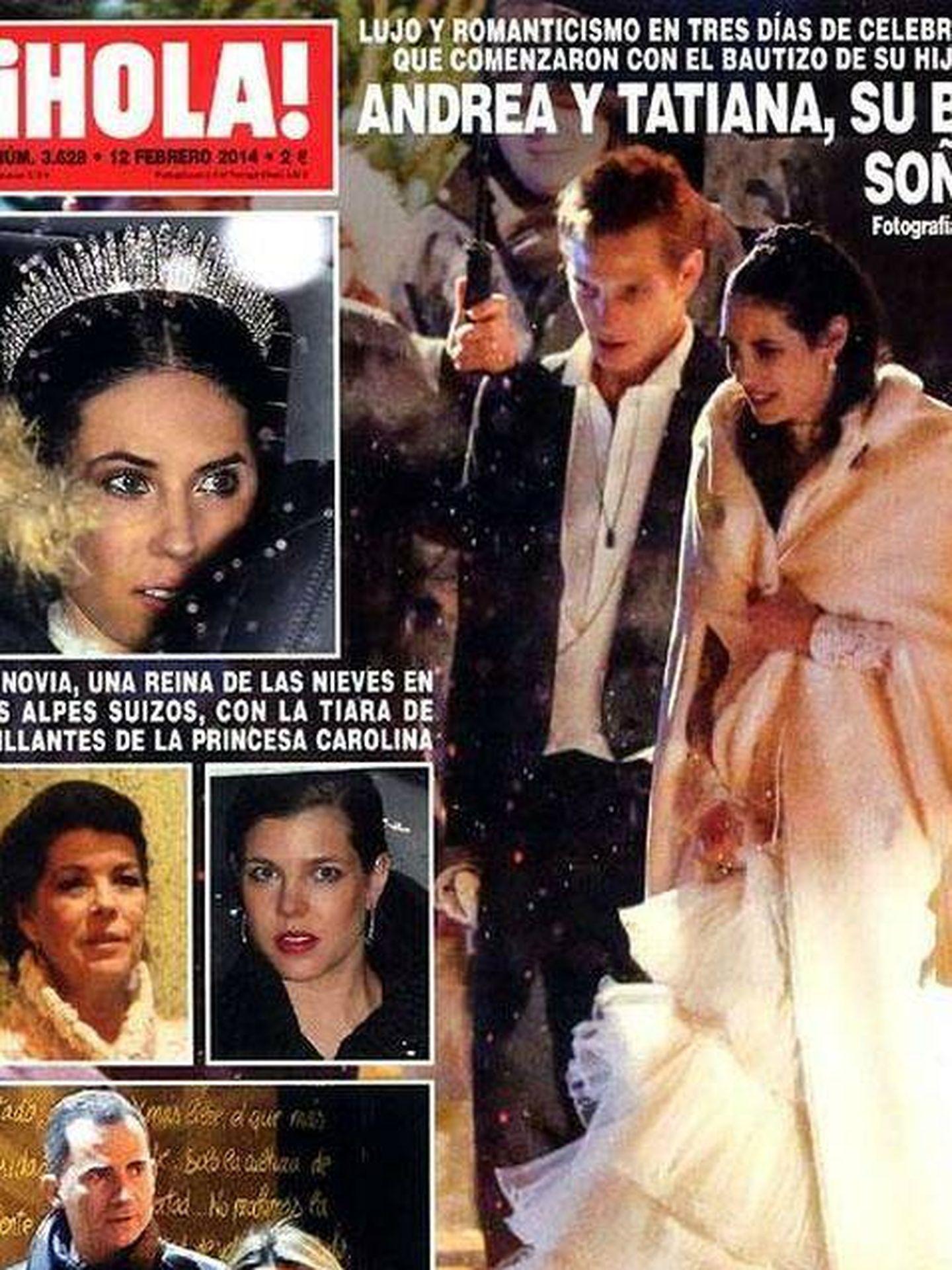 Portada de la boda de Tatiana Santo Domingo. (¡Hola!)