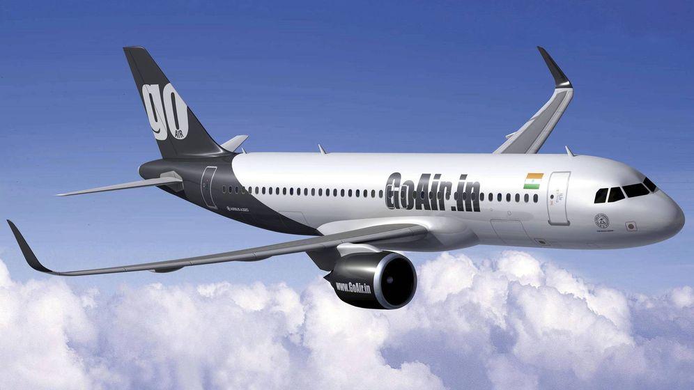 Foto: Un avión de la aerolínea india GoAir, en el que ocurrió el suceso. (EFE)