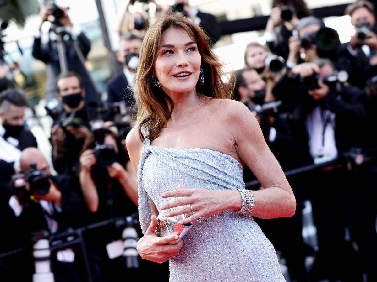 Foto: Carla Bruni, en el Festival de Cannes. (Getty)
