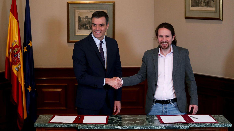 Pedro Sanchez y Pablo Iglesias.