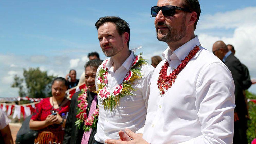 Foto: El príncipe Haakon durante su viaje al Pacífico Sur. (Casa Real Noruega)