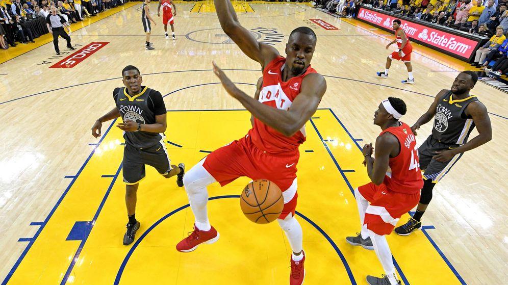 Foto: Serge Ibaka está jugando la final de la NBA con los Toronto Raptors. (USA TODAY Sports)