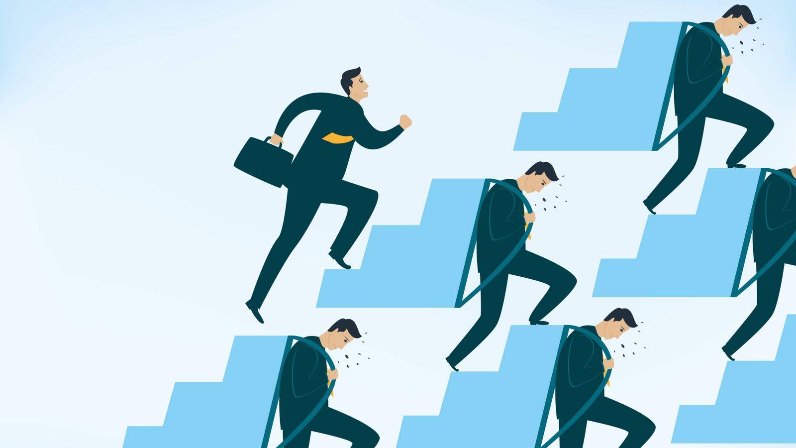 Foto: La escalera del ascenso social no tiene los mismo escalones para todo el mundo. (iStock)