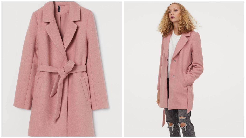 Abrigo rosa de HyM. (Cortesía)