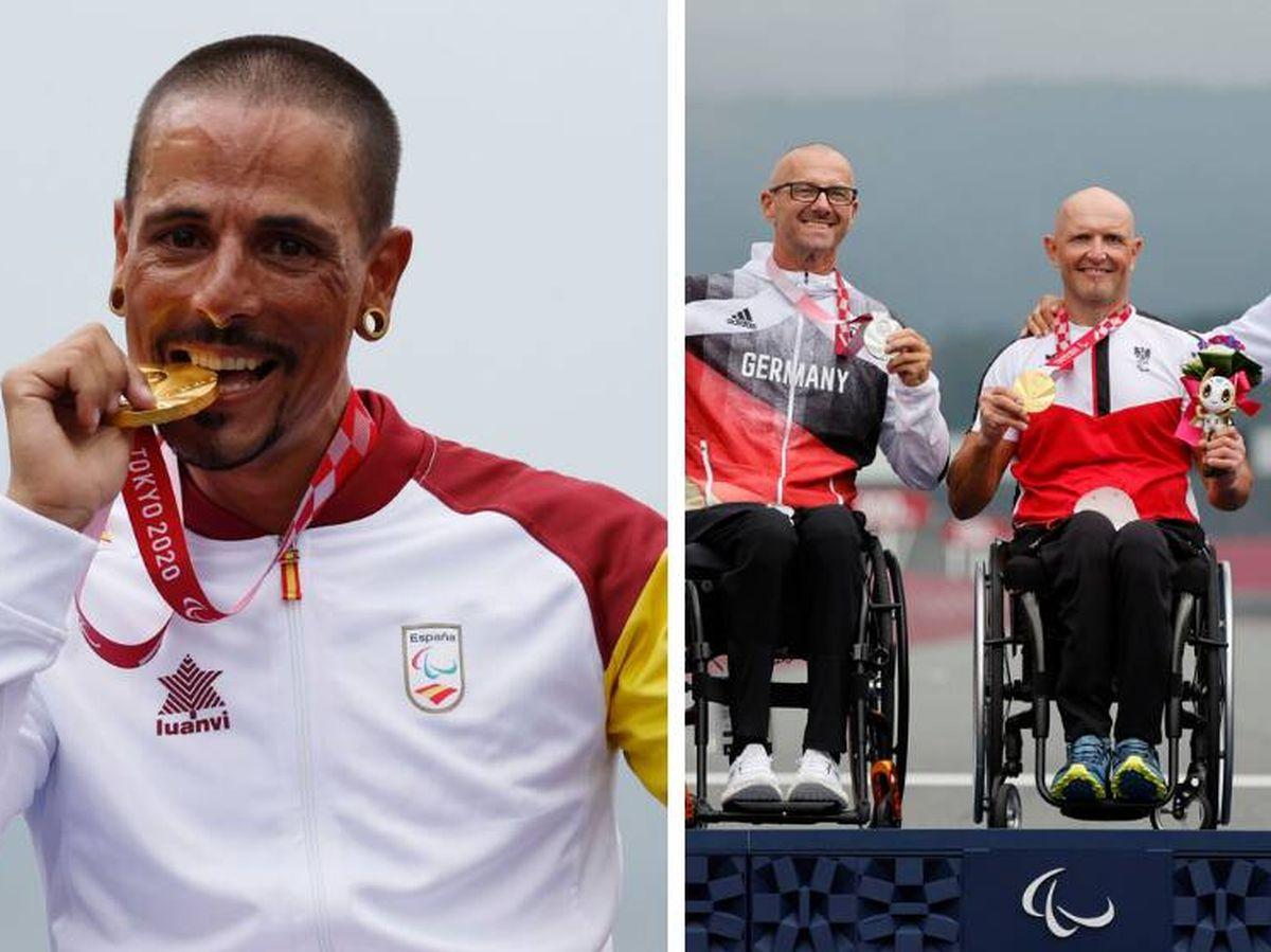 Foto: A la izquierda, Sergio Garrote con el oro; a la derecha, Luismi Marquina con su bronce en el podio