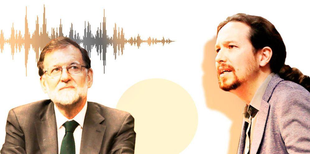 Foto: Mariano Rajoy y Pablo Iglesias. (E. V.)