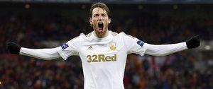 Michu ya tiene su prímer título con el 'Spanish' Swansea que barrió al Bradford en Wembley
