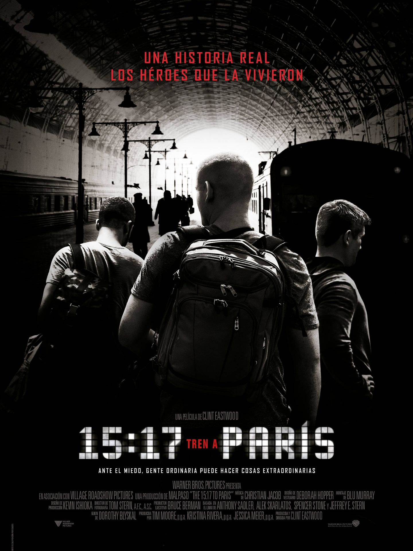 Cartel de '15:17 Tren a París'.