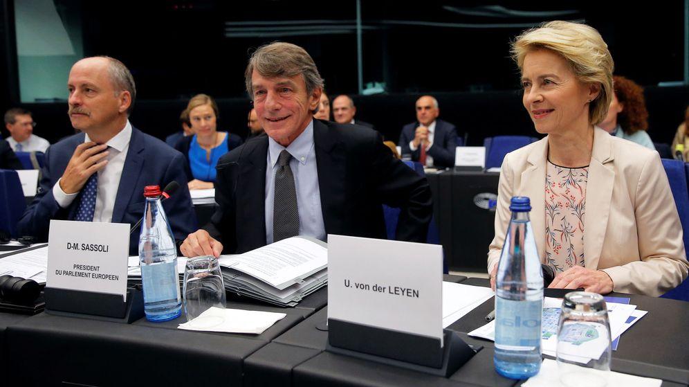 Foto: Von der Leyen junto al presidente del Parlamento Europeo, David Sassoli. (Reuters)