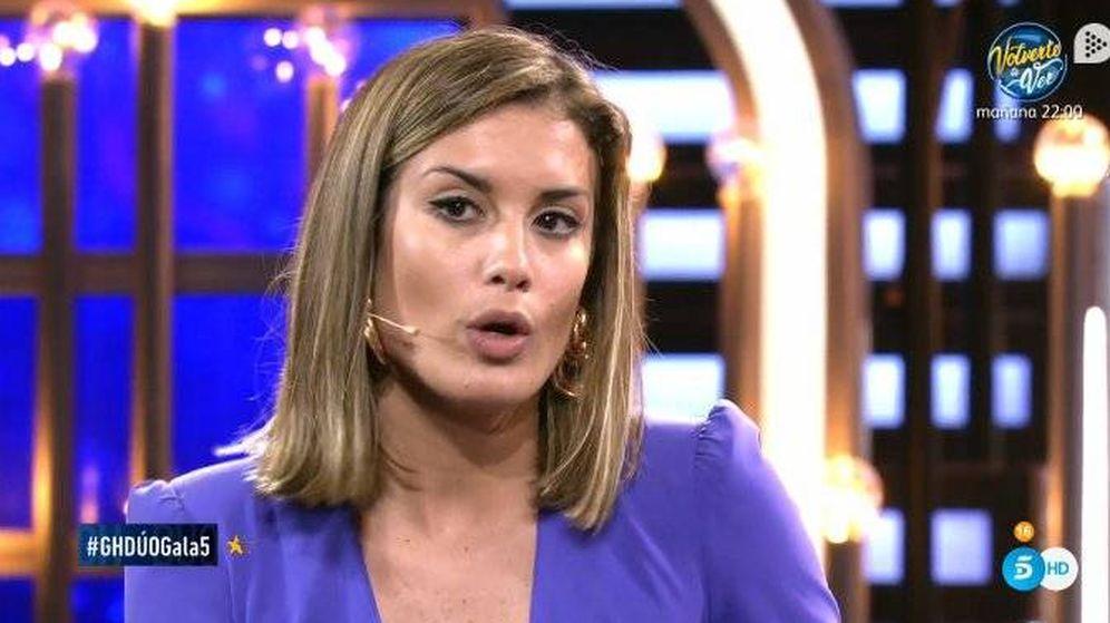 Foto: Candela, enterándose de las supuestas infidelidades de Tejado en 'GH Dúo'. (Telecinco)