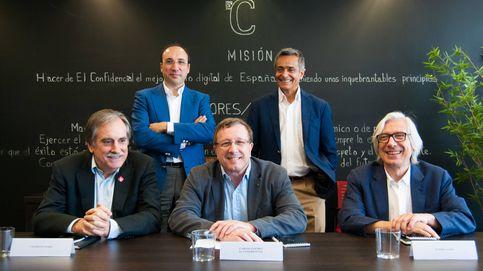 De izquierda a derecha (arriba): Lorenzo Dávila, Jesús Sánchez Lambás, Valeriano Gómez, Carlos Sánchez (El Confidencial) y Ramiro Aurín.