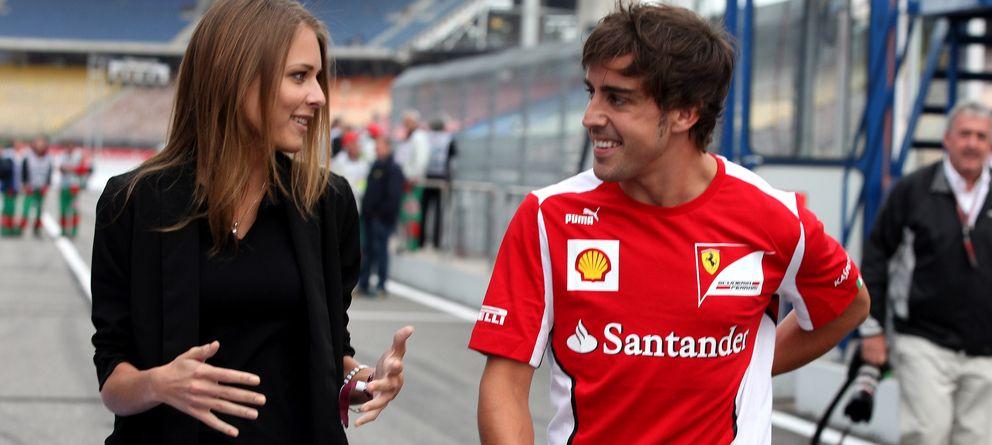 Foto: Fernando Alonso y Dasha Kapustina, en una imagen de archivo (Gtres)