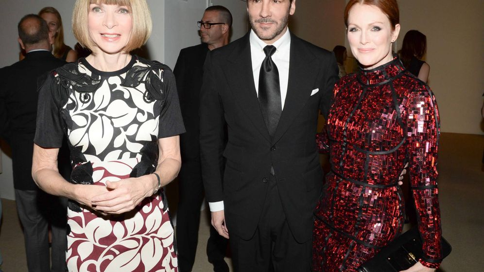 Foto: Anna Wintour, Tom Ford y Julianne Moore. (Cordon Press)