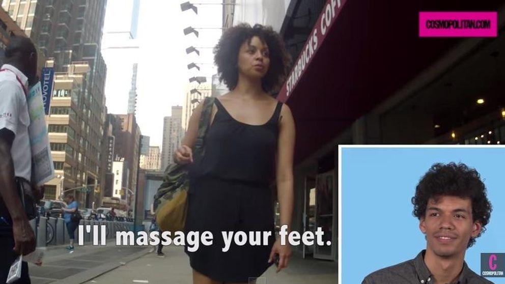 Así reaccionan los hombres cuando ven cómo piropean a sus novias por la calle
