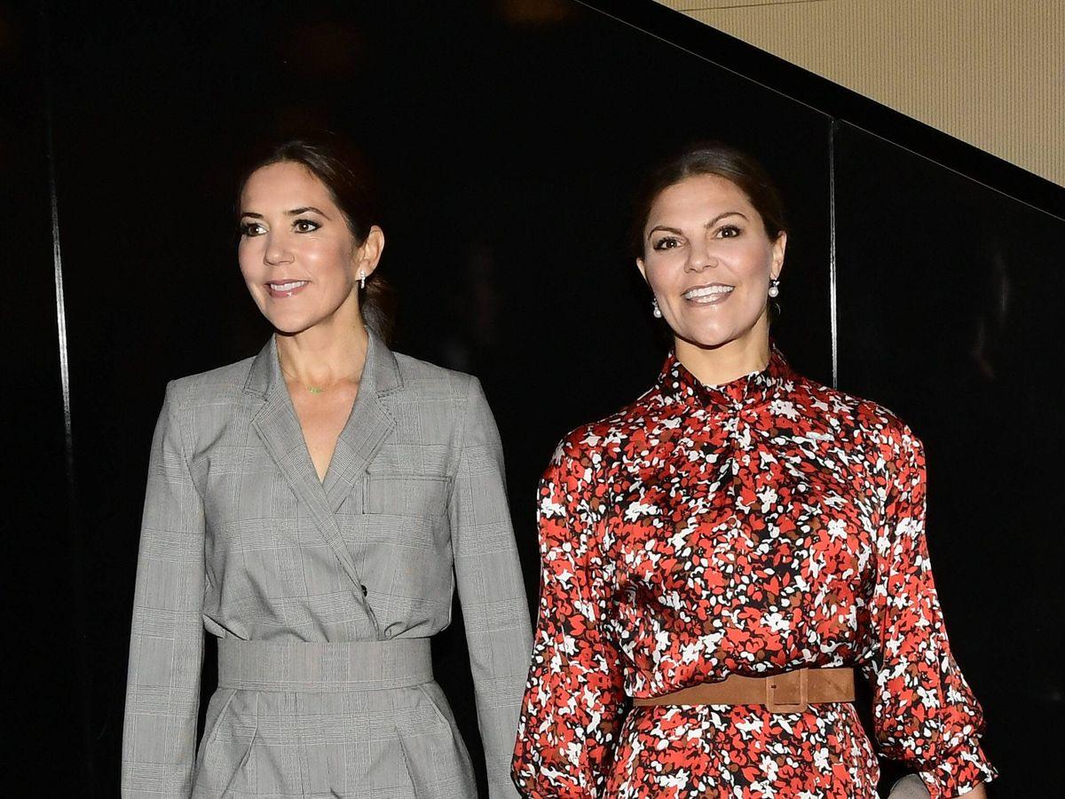 Foto: Mary de Dinamarca y Victoria de Suecia, en una imagen de archivo. (Cordon Press)