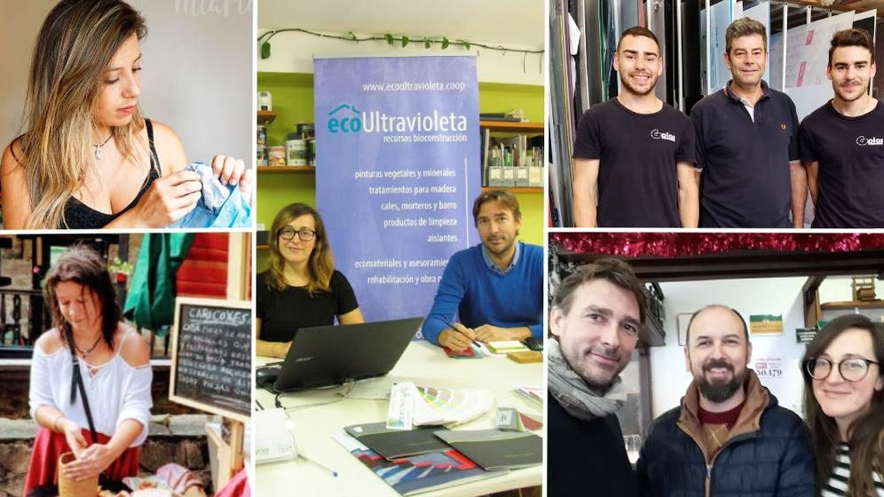 Foto: Collage de pequeños emprendedores.