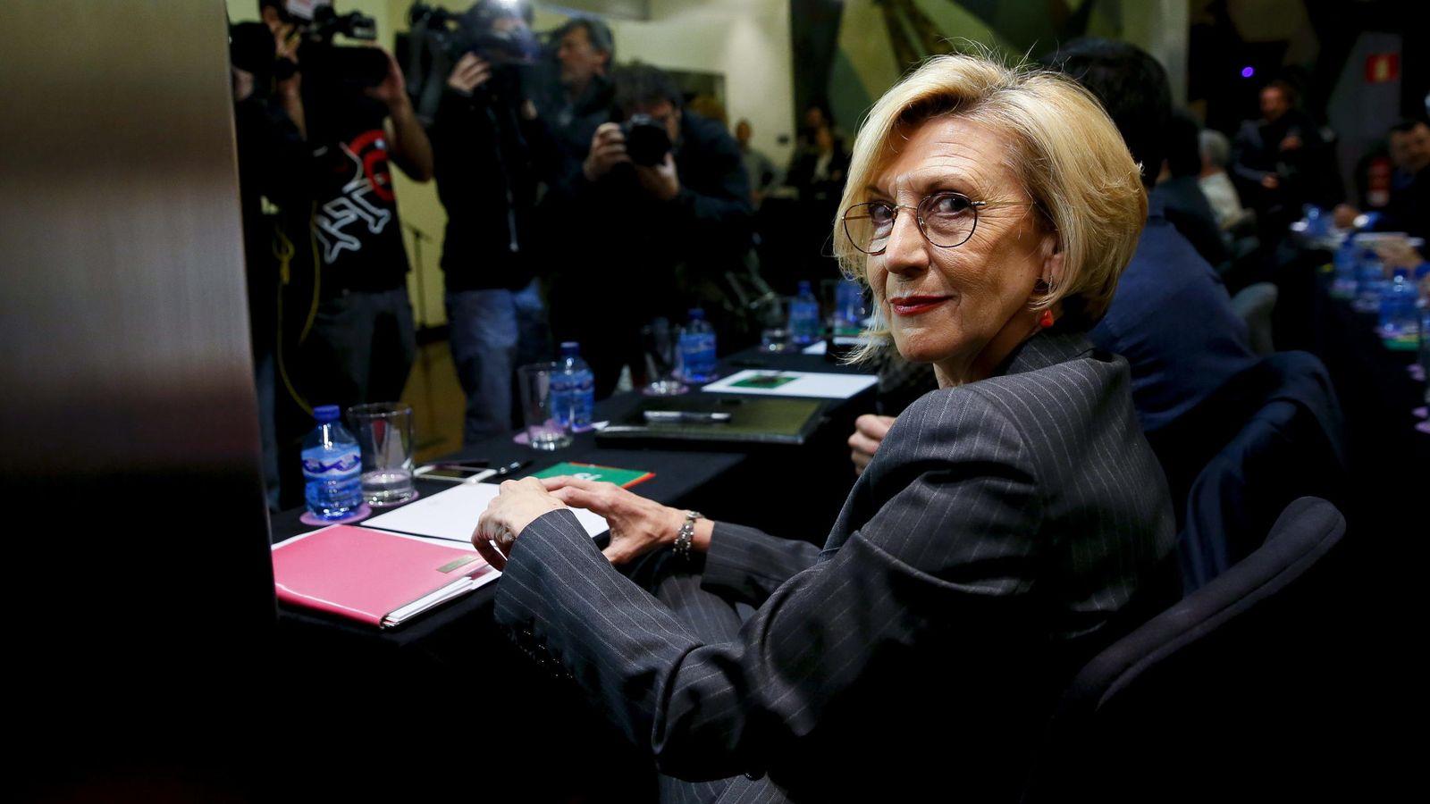 Foto: La portavoz de UPyD, Rosa Díez, en el Consejo Extraordinario (Efe)