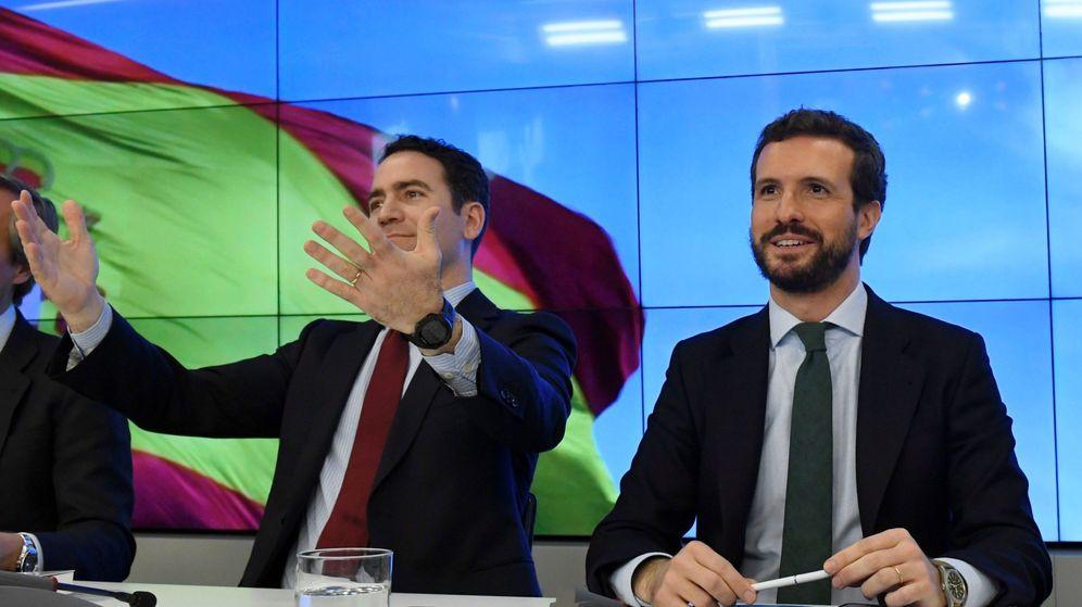 Foto: Teodoro García Egea y Pablo Casado. (EFE)