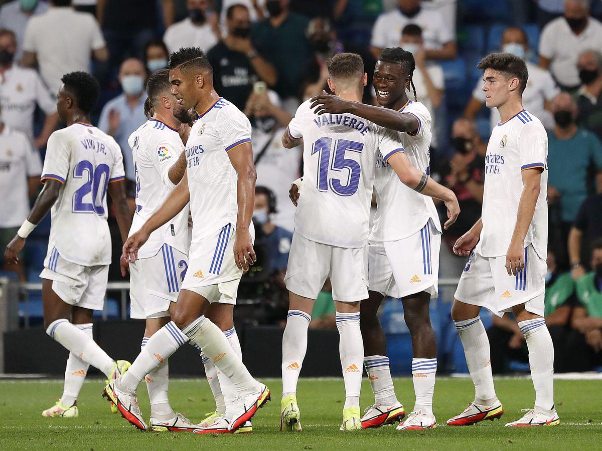 Foto: Jugadores del Real Madrid celebran un gol. (Reuters)