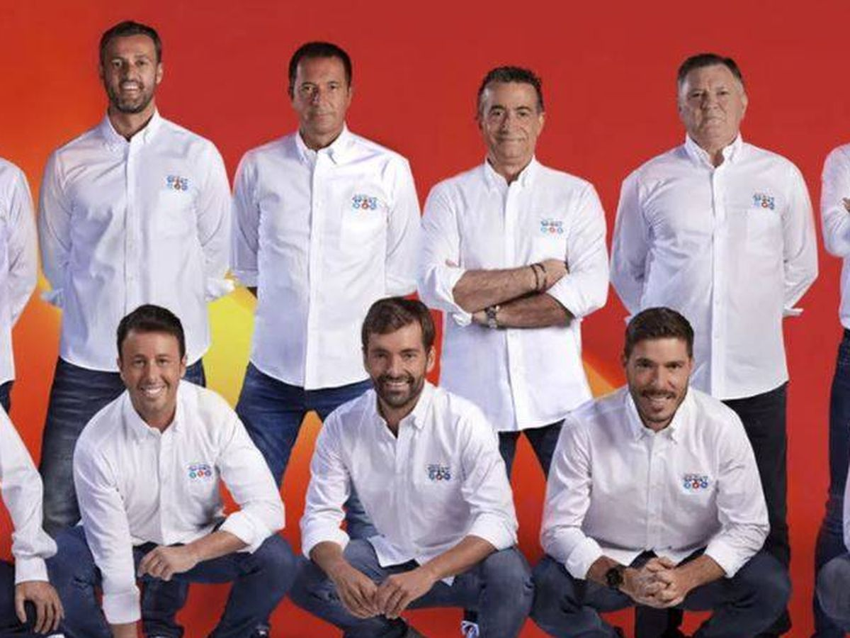 Foto: Los periodistas que cubren a Eurocopa en Mediaset España.