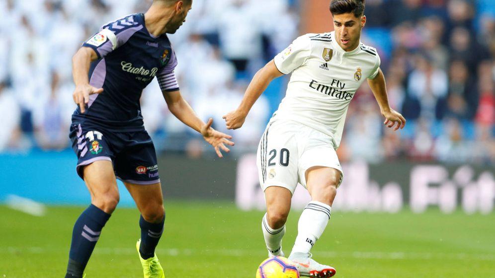 Foto: Marco Asensio durante el Real Madrid-Real Valladolid de LaLiga Santander. (Reuters)