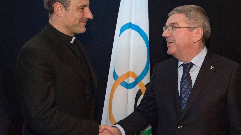 En febrero de 2018, Melchor Sánchez de Toca tuvo un encuentro con Thomas Bach, presidente del COI. (Foto: Athletica Vaticana)