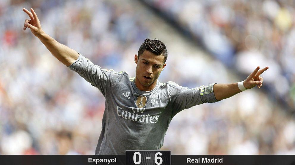 Repóker de Cristiano Ronaldo en un partido perfecto del Real Madrid
